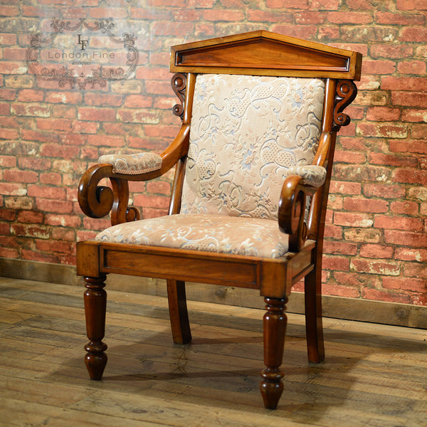 Victorian Walnut Library Chair, c.1860 - London Fine Antiques - 5