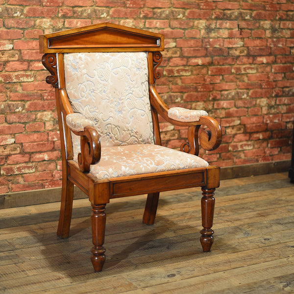 Victorian Walnut Library Chair, c.1860 - London Fine Antiques - 4