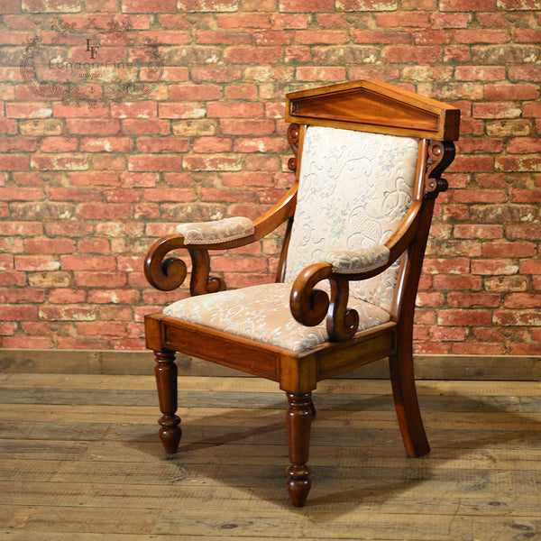 Victorian Walnut Library Chair, c.1860 - London Fine Antiques - 6