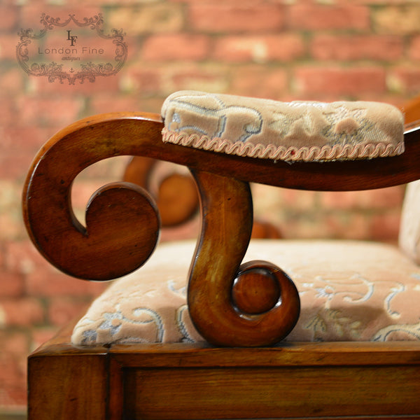 Victorian Walnut Library Chair, c.1860 - London Fine Antiques - 3