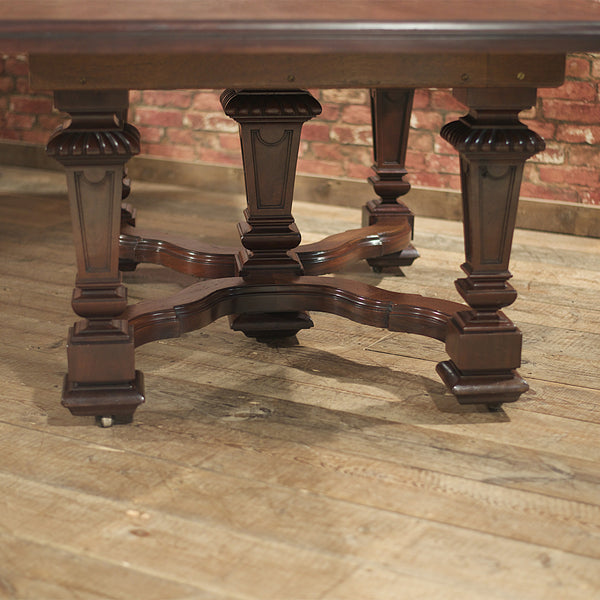 Victorian Mahogany Dining Table - London Fine Antiques - 5
