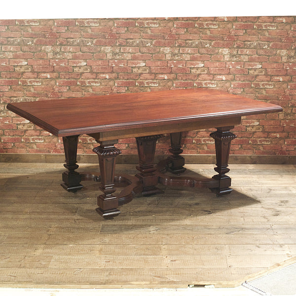 Victorian Mahogany Dining Table - London Fine Antiques - 1