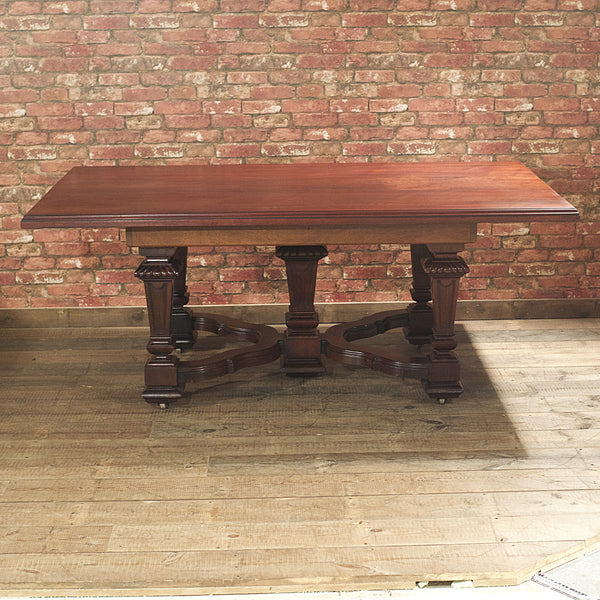Victorian Mahogany Dining Table - London Fine Antiques - 6