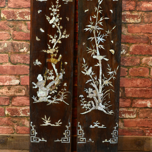 Late 19th Century Pair of Chinese Panels - London Fine Antiques