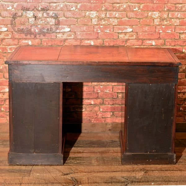 Victorian Rosewood Pedestal Desk, c.1870 - London Fine Antiques