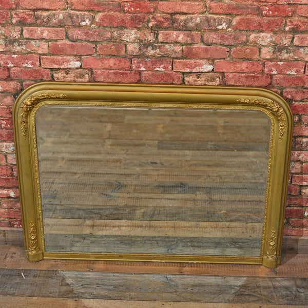 Regency Gilt Gesso Overmantle Mirror - London Fine Antiques