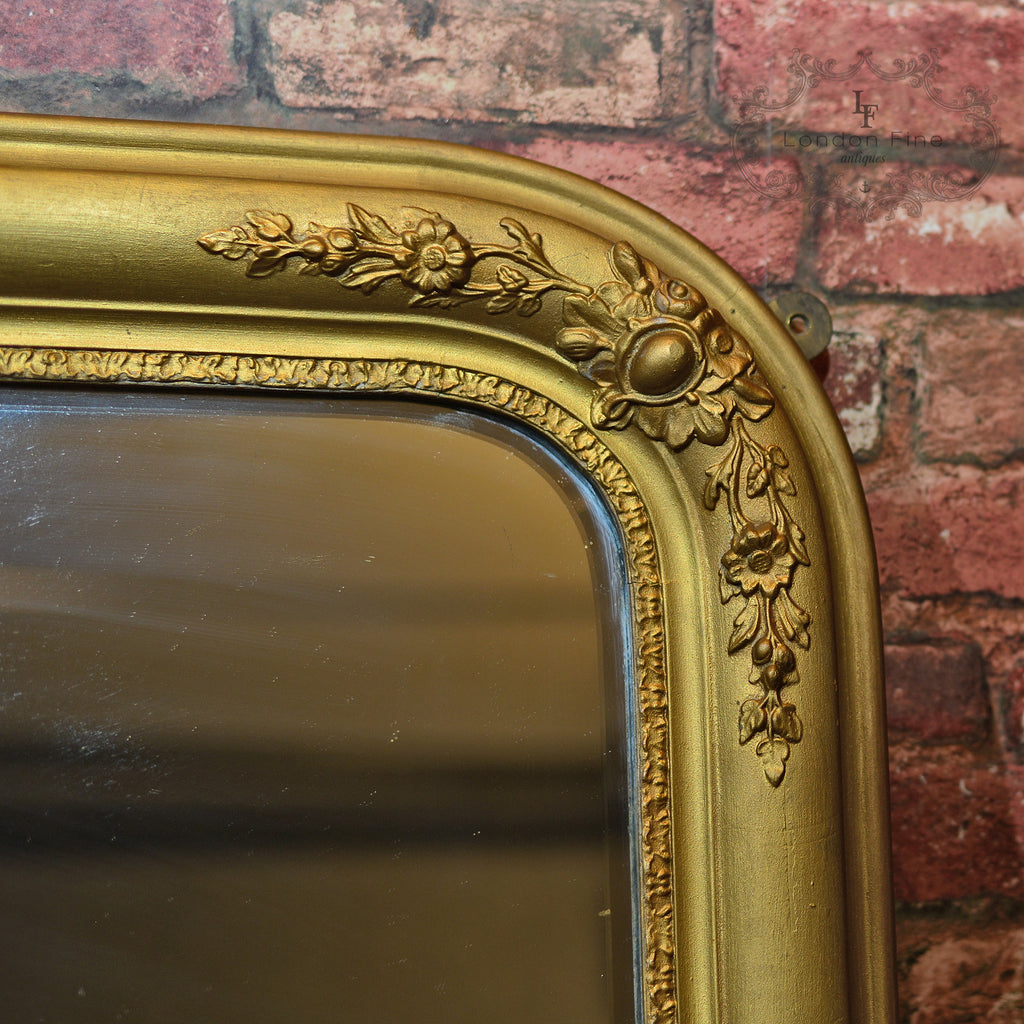 Regency Gilt Gesso Overmantle Mirror London Fine Antiques