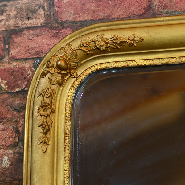 Regency Gilt Gesso Overmantle Mirror - London Fine Antiques - 5