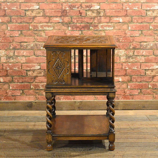 Edwardian Revolving Library Bookcase - London Fine Antiques
