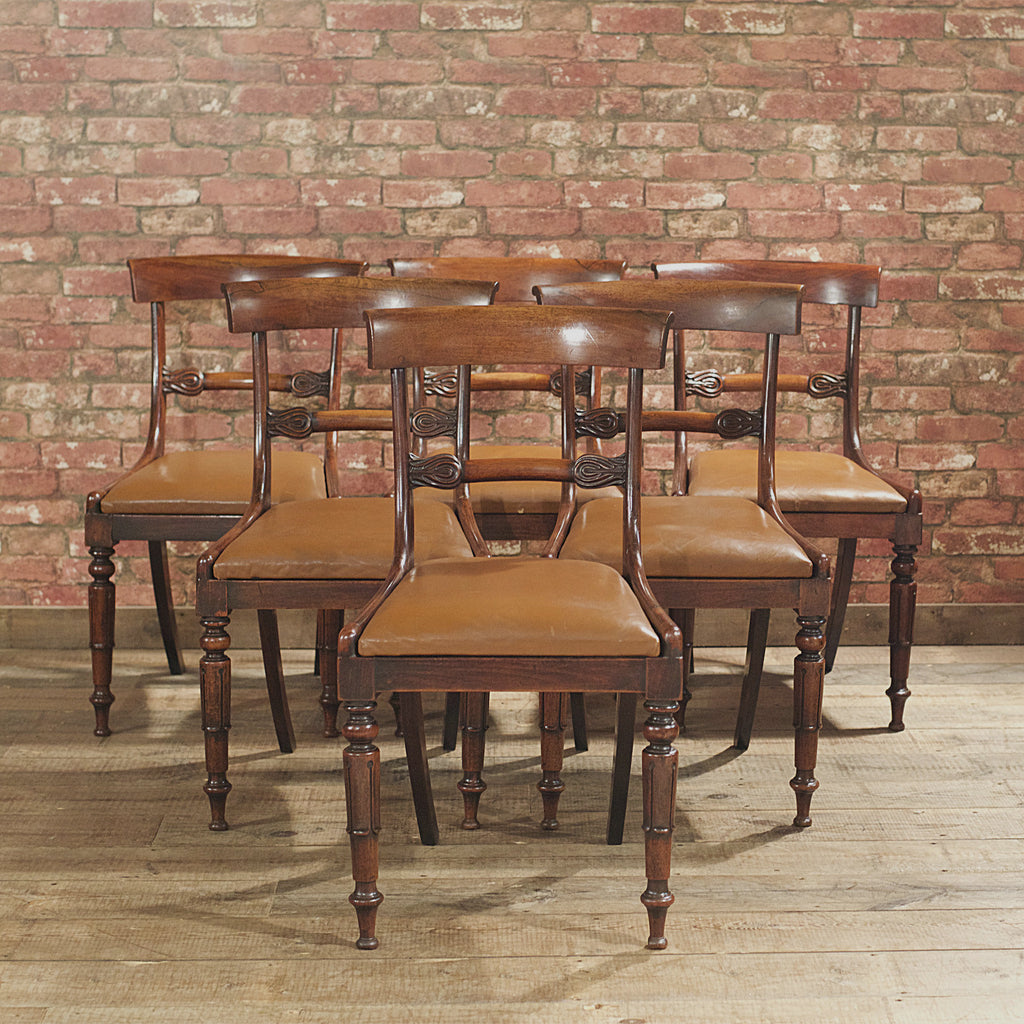 William IV Set of 6 Dining Chairs - London Fine Antiques - 1