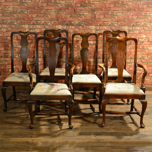 Victorian Set of Six Dining Chairs - London Fine Antiques - 9