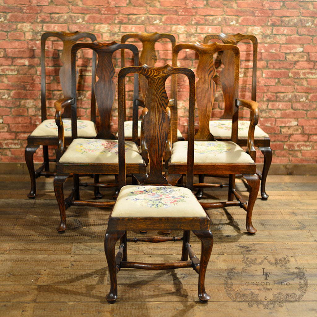 Victorian Set of Six Dining Chairs - London Fine Antiques - 1