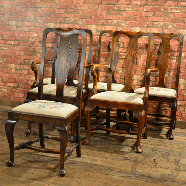 Victorian Set of Six Dining Chairs - London Fine Antiques - 10