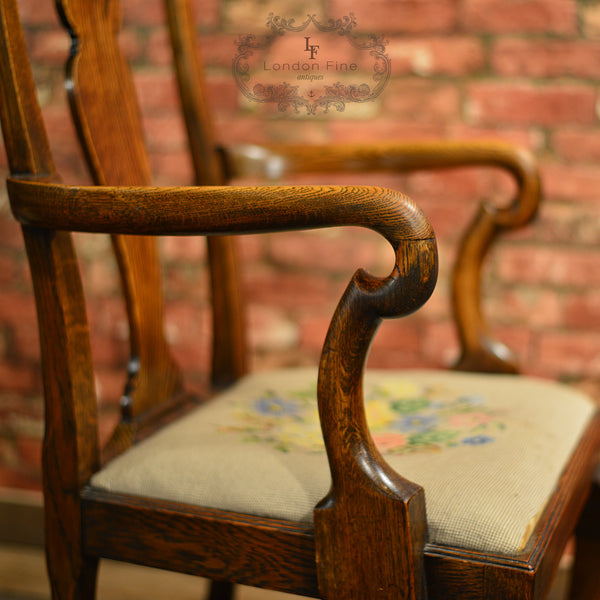 Victorian Set of Six Dining Chairs - London Fine Antiques - 7