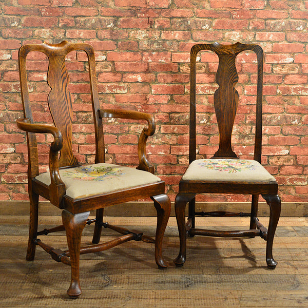 Victorian Set of Six Dining Chairs - London Fine Antiques - 3
