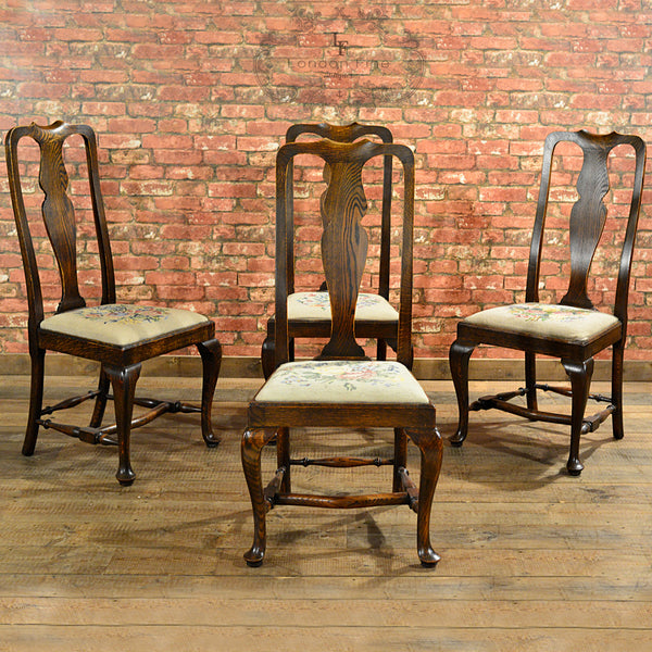 Victorian Set of Six Dining Chairs - London Fine Antiques - 4