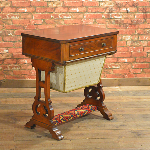 Victorian Sewing / Work Table - London Fine Antiques - 7