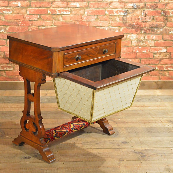 Victorian Sewing / Work Table - London Fine Antiques - 6