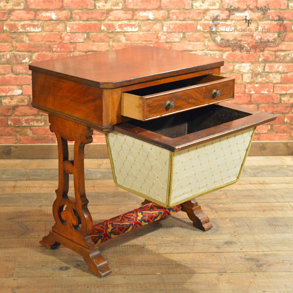 Victorian Sewing / Work Table - London Fine Antiques - 3