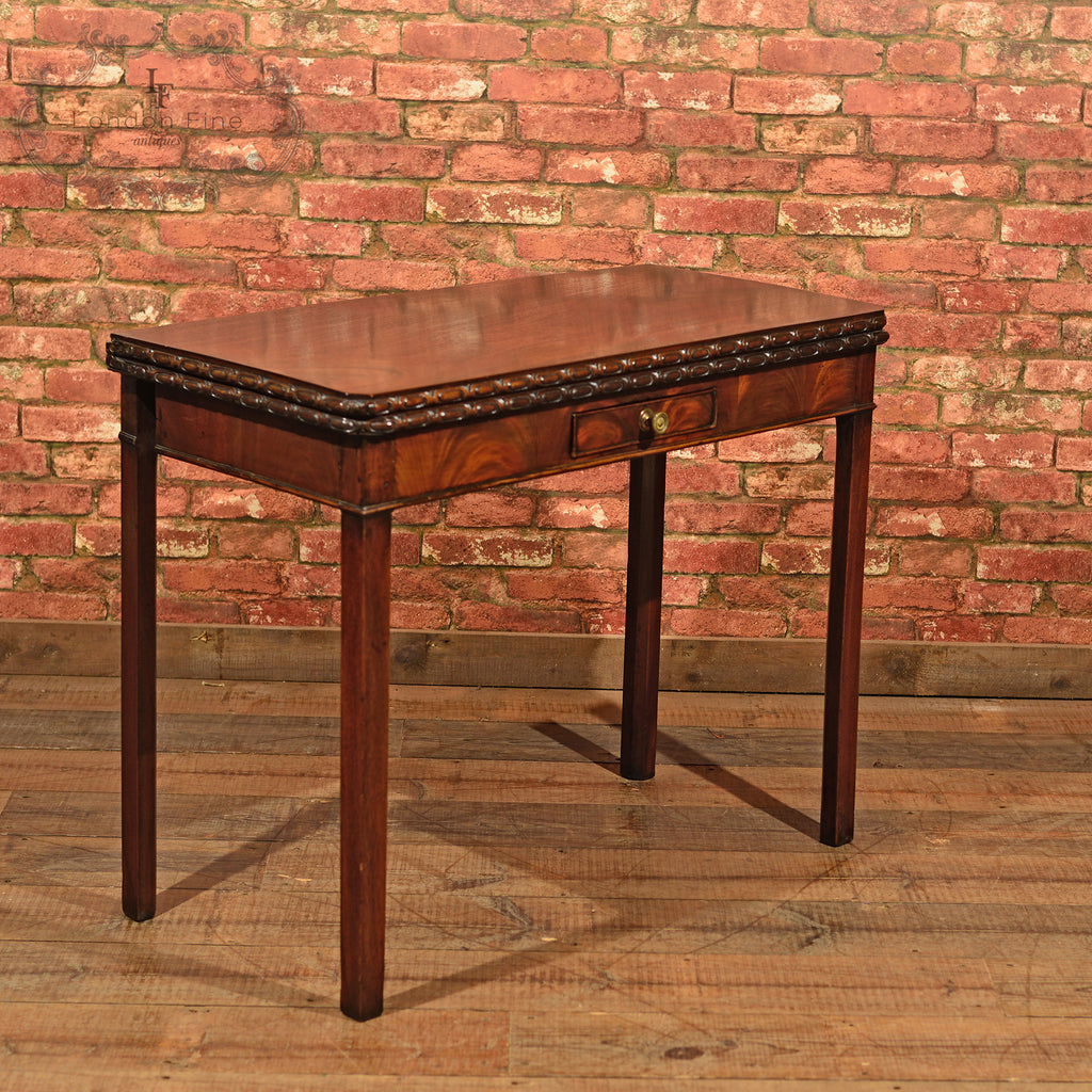 Georgian Mahogany Card Table, c.1800 - London Fine Antiques