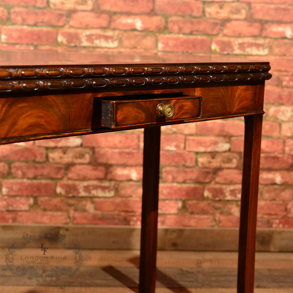 Georgian Mahogany Card Table, c.1800 - London Fine Antiques - 4