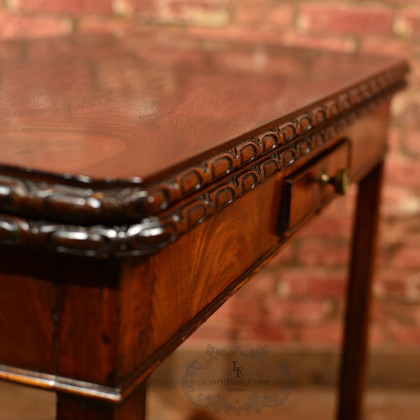 Georgian Mahogany Card Table, c.1800 - London Fine Antiques - 2