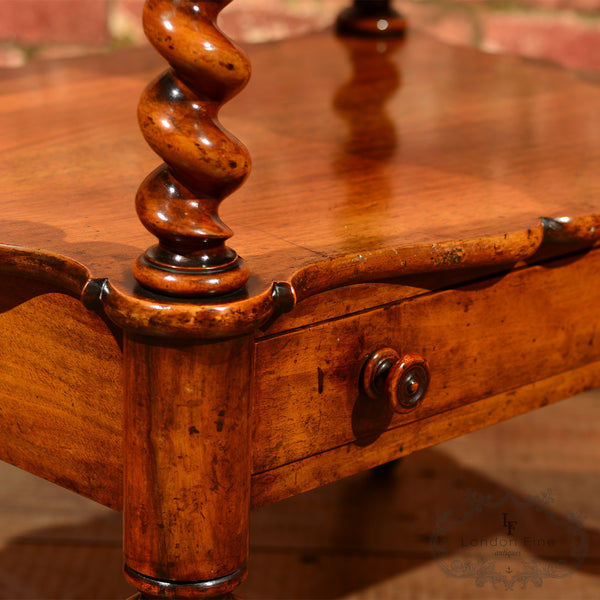 Victorian 3 Tier Walnut Whatnot, c.1880 - London Fine Antiques