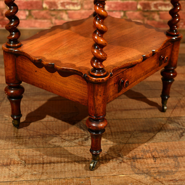 Victorian 3 Tier Walnut Whatnot, c.1880 - London Fine Antiques - 7