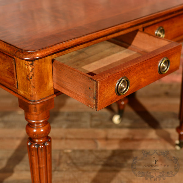 Regency Mahogany Writing Table, c.1830 - London Fine Antiques - 4