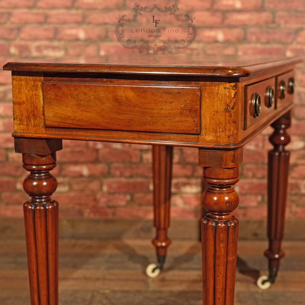 Regency Mahogany Writing Table, c.1830 - London Fine Antiques - 8
