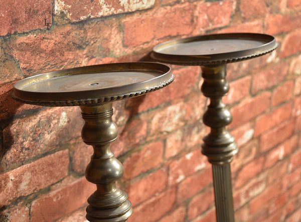 Regency Pair of Brass Stands - London Fine Antiques - 6