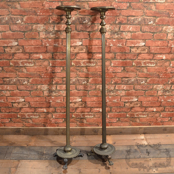 Regency Pair of Brass Stands - London Fine Antiques - 4