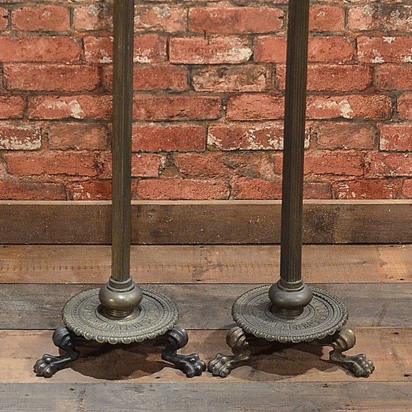 Regency Pair of Brass Stands - London Fine Antiques - 3