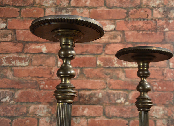Regency Pair of Brass Stands - London Fine Antiques - 12