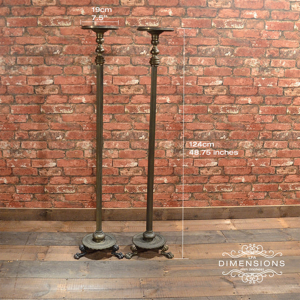 Regency Pair of Brass Stands - London Fine Antiques - 7