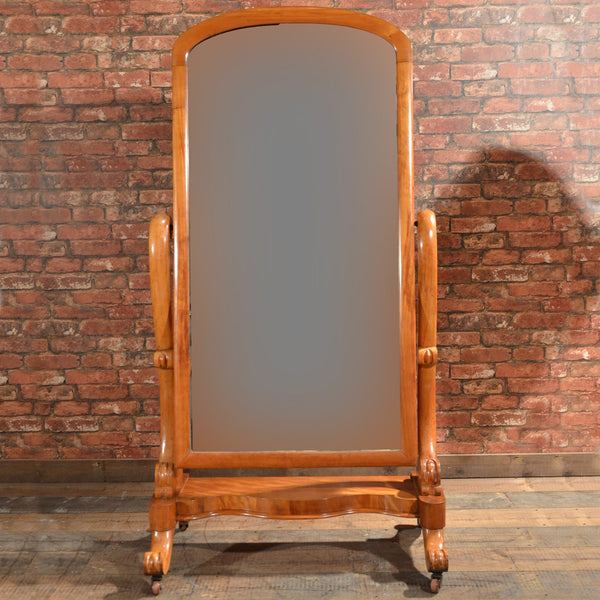 Victorian Cheval Mirror - London Fine Antiques - 11