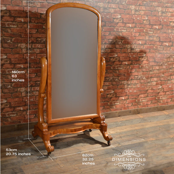 Victorian Cheval Mirror - London Fine Antiques