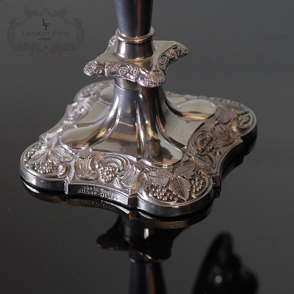 Victorian Silver Plated Candleabra - London Fine Antiques - 4