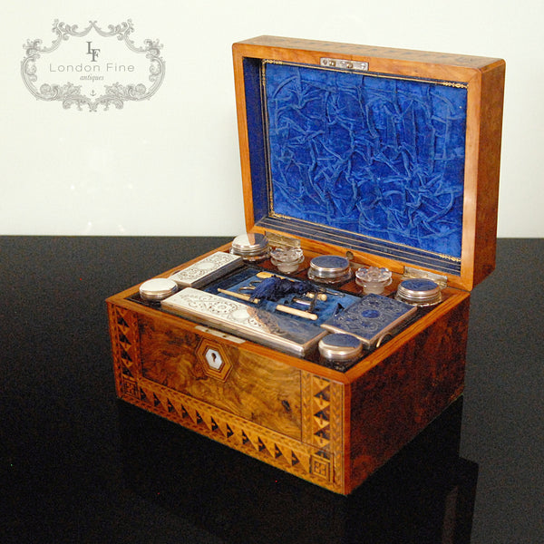 Victorian Lady's Dressing Box - London Fine Antiques - 3