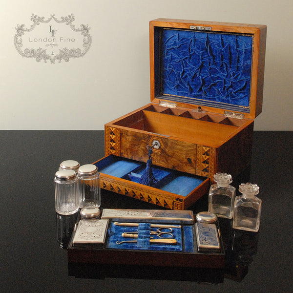 Victorian Lady's Dressing Box - London Fine Antiques - 4