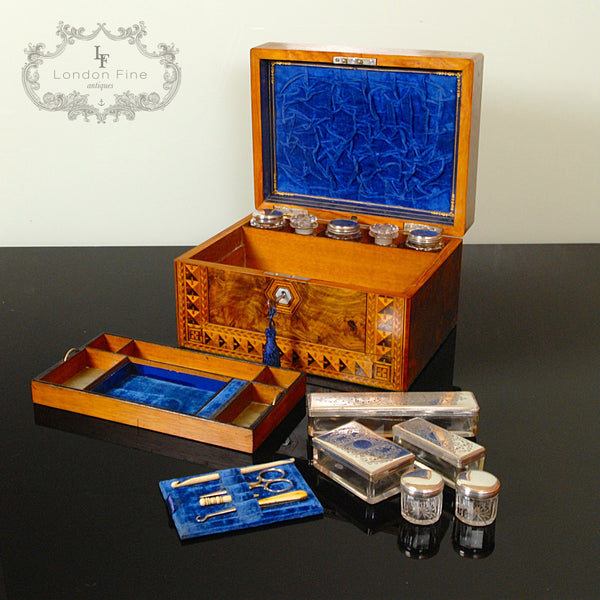 Victorian Lady's Dressing Box - London Fine Antiques - 5