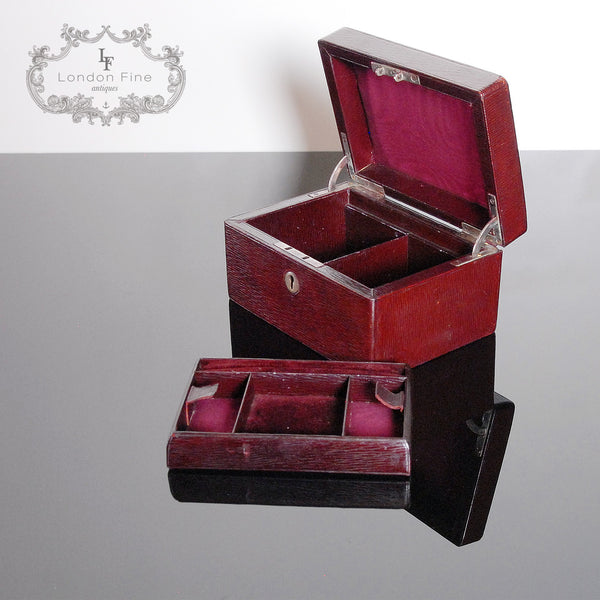 Vintage '30s Jewellery Box - London Fine Antiques - 5