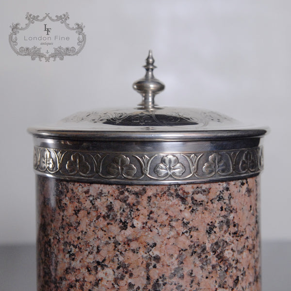 Victorian Biscuit Barrel - London Fine Antiques - 5