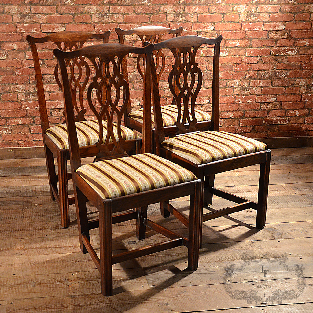 Georgian 4 x Dining Chairs - London Fine Antiques