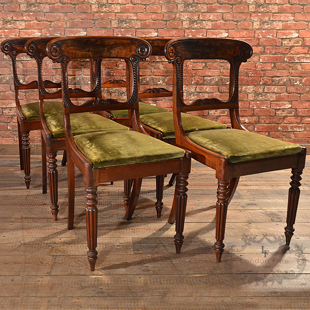William IV 6 x Dining Chairs - London Fine Antiques