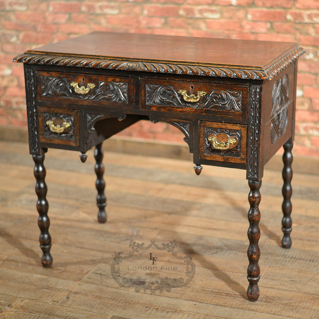 Victorian Lowboy - London Fine Antiques - 1