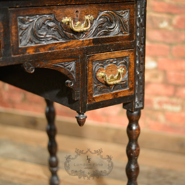 Victorian Lowboy - London Fine Antiques - 3