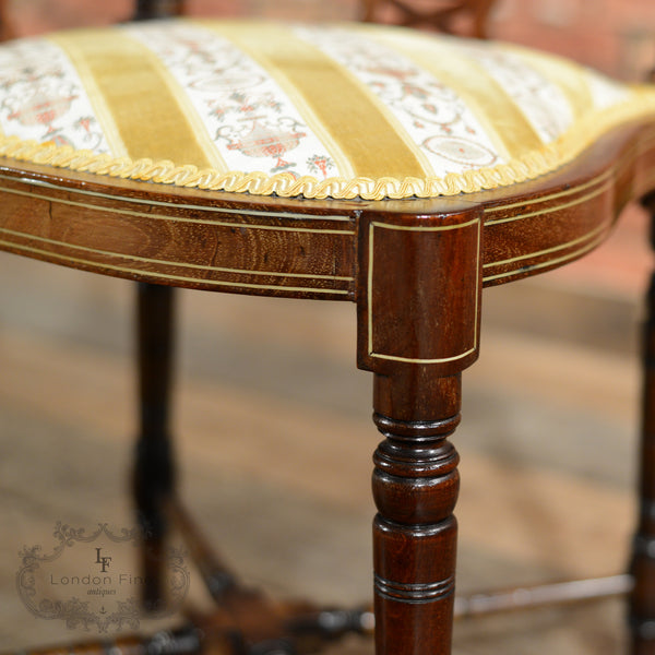 Edwardian Corner Chair - London Fine Antiques - 5
