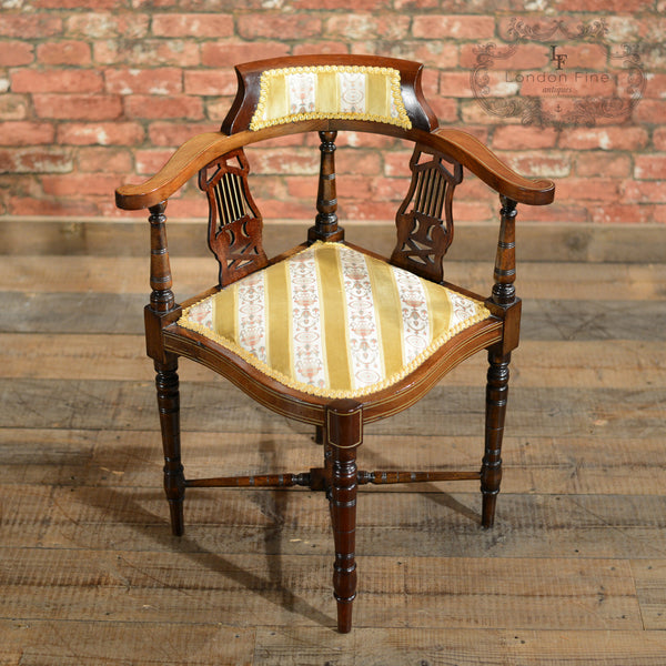Edwardian Corner Chair - London Fine Antiques - 2