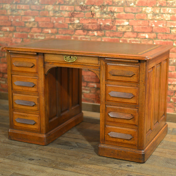 Antique Pedestal Desk - London Fine Antiques